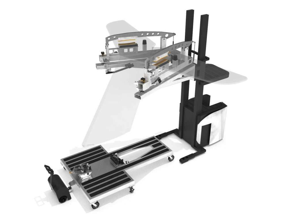 Valiant TMS - Aerospace - Empennage - Automated 3-in-1 Workstation, Transport and Assembly Tooling