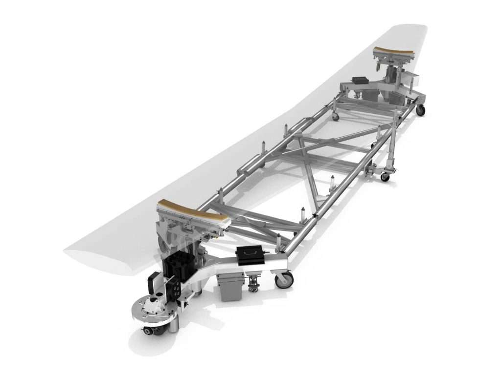 Valiant TMS - Aerospace - Wing - Automated 3-in-1 Workstation, Transport and Assembly Tooling