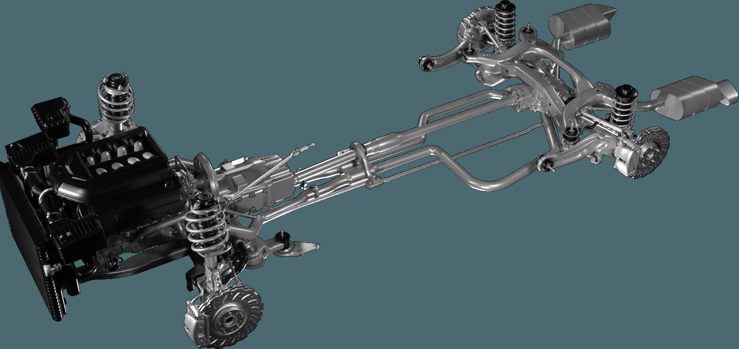 Valiant TMS Powertrain - Traditional Powertrain 3D Image
