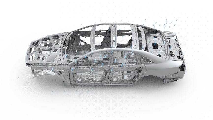 Vehicle Body in White Illustration
