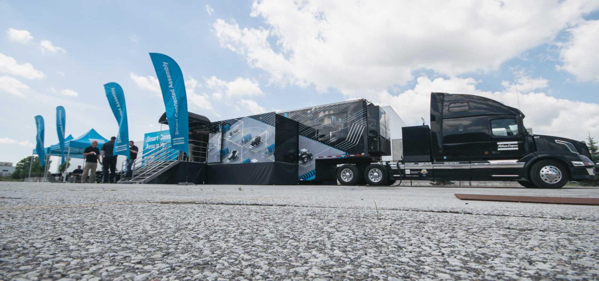 Atlas Copco Smart Connected Roadshow at Valiant TMS